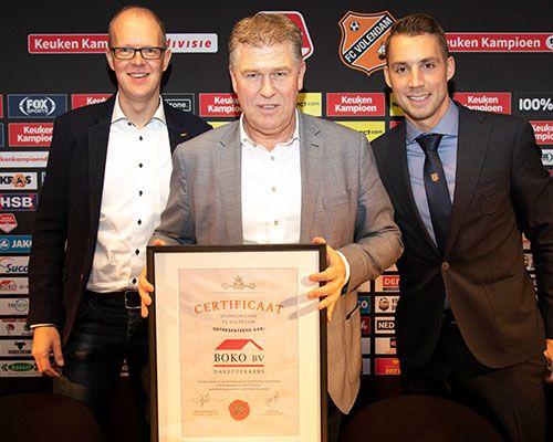 BOKO langer als Topsponsor aan FC Volendam verbonden