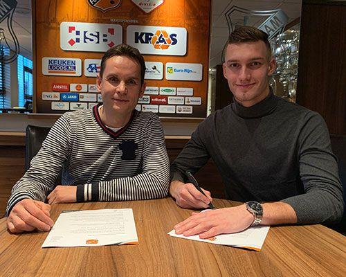 Nordin Bakker langer onder de lat bij FC Volendam