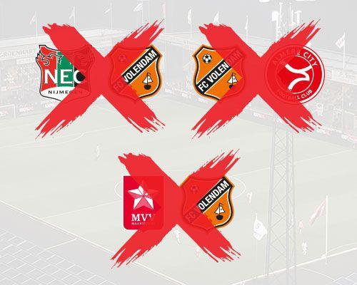 Tot tenminste eind maart geen competitievoetbal voor FC Volendam
