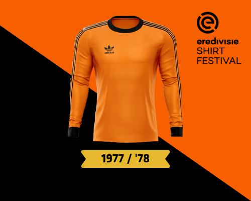 Sponsorloos tenue 1977/'78 verkozen tot mooiste FC Volendam-shirt