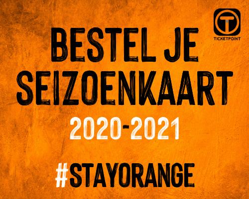Stay Orange; bestel je seizoenkaart
