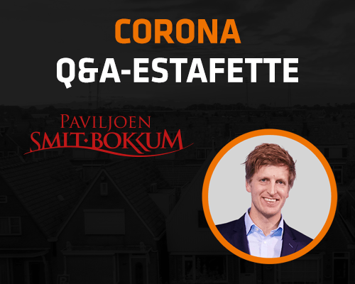 Corona Q&A Estafette: Paviljoen Smit-Bokkum