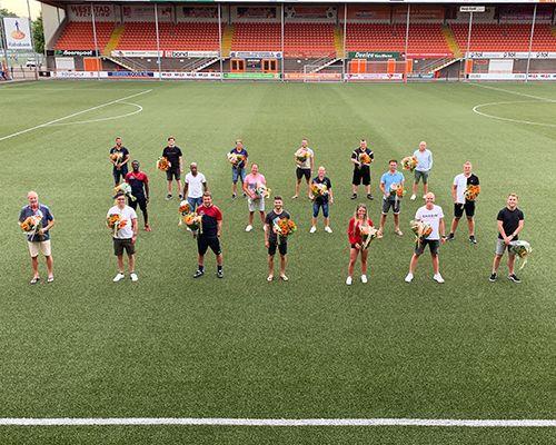 FC Volendam zet afzwaaiende trainers en staf in het zonnetje