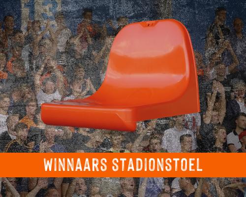 Winnaars stadionstoel eretribune bekend