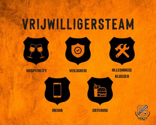 Als één vrijwilligersteam Vol Voor Oranje; haak ook aan!