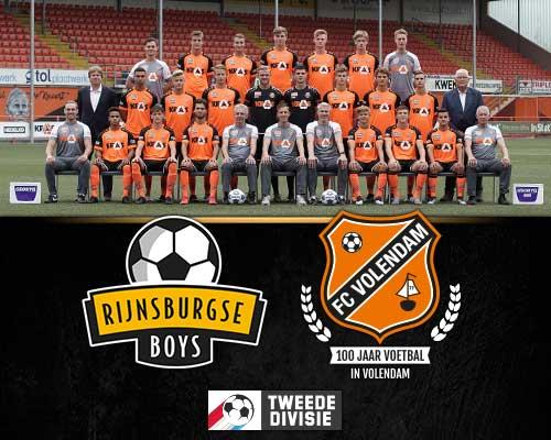 Jong FC Volendam op bezoek bij titelkandidaat