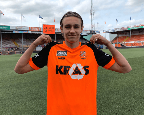 Josh Flint gaat voor kans bij FC Volendam