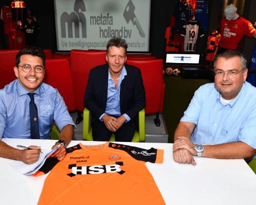 Shirtsponsor Metafa verlengt samenwerking met FC Volendam