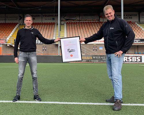 Baltus verbindt zich als bordsponsor aan FC Volendam