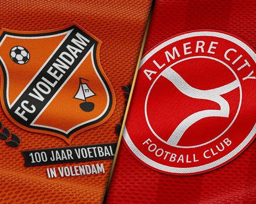 Koploper Almere City FC interessante krachtmeting voor FC Volendam