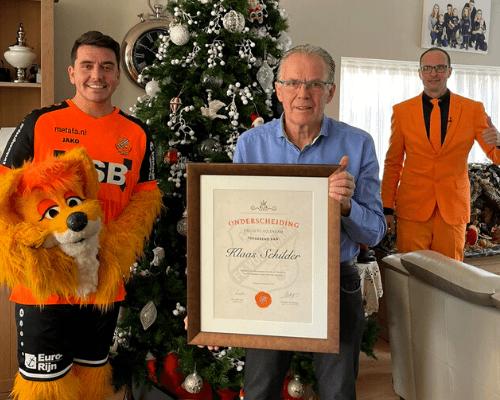 Klaas Schilder (De Beer) benoemd tot erelid van FC Volendam