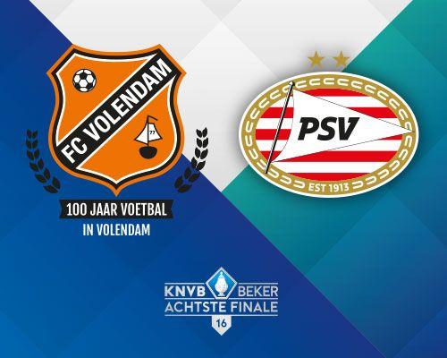 PSV tegenstander FC Volendam in achtste finale KNVB Beker