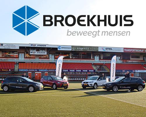 FC Volendam rijdt in Seat van Broekhuis