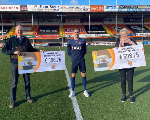 Broodje bal-actie levert ruim duizend euro op voor Voedselbank