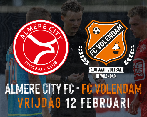 Uitduel tegen Almere City verplaatst naar vrijdag 12 februari