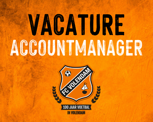 Vacature: fulltime Accountmanager FC Volendam, m/v