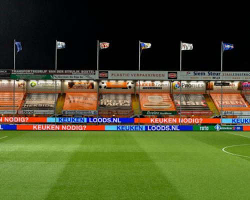 Uniek in Nederland; FC Volendam krijgt permanente extra rij 'on TV' LED-boarding