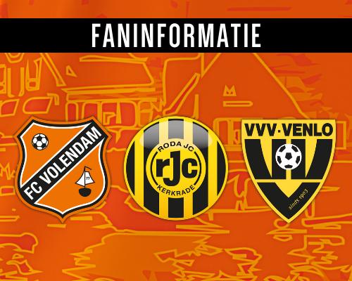 Ticketverkoop Roda JC- en VVV-Venlo-thuis van start; alle fan-informatie op een rijtje