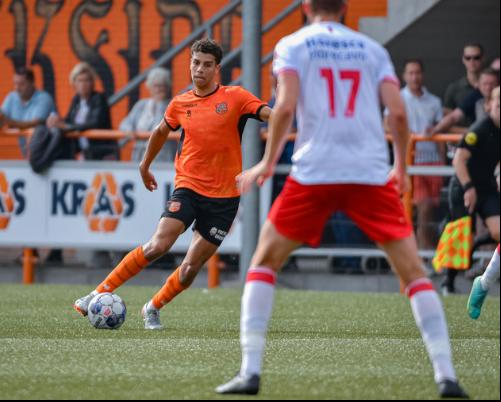 Jong FC Volendam deelt in de slotfase punt