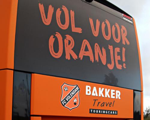 FC Volendam in stijl naar uitduels met nieuw bestickerde spelersbus
