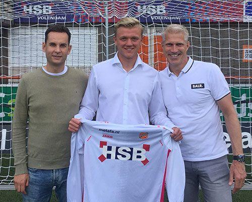 Barry Lauwers tekent eerste profcontract bij FC Volendam